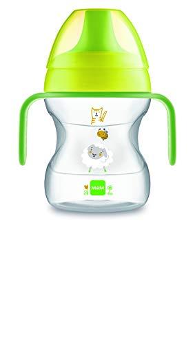 MAM Learn To Drink Cup Little Farm ZEDMM222N Tazza con Manici Removibili e Beccuccio Morbido, 6+ mesi , 190 ml, Verde