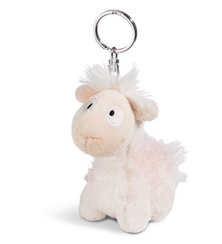Nici 45400 Keyring Llama-Baby Cloudi 10cm, Beige/Brown