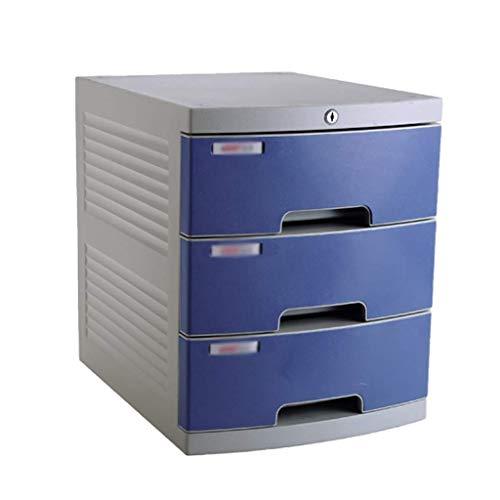 LHQ-HQ Organizador de cajones para periódicos, escritorio con archivos, para periódicos, escritorio, cajón, suministros de oficina (color azul, color: A1, tamaño: 3 capas)
