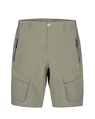 Little Donkey Andy Men's Stretch Quick Dry Cargo Shorts for Hiking, Camping, Travel Sage Size M
