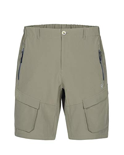 Little Donkey Andy Men's Stretch Quick Dry Cargo Shorts for Hiking, Camping, Travel Sage Size XL