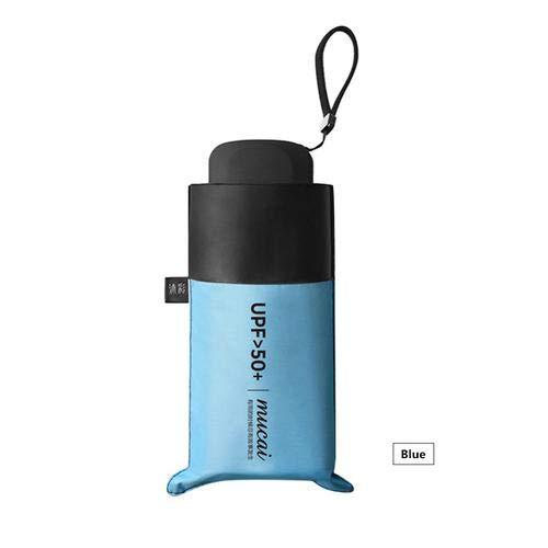 Mini Paraguas Pequeño del Sol Viaje Compacto Ultraligero Paraguas de Viaje Portátil Resistente Anti UV Plegable para Actividades al Aire Libre