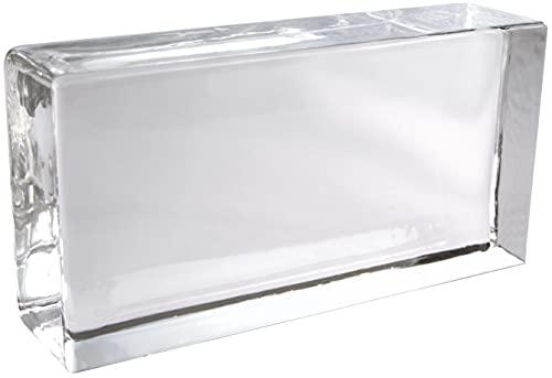 Fuchs Design Collection Crystal Classic 1 pièce vue complète brillant brique de verre brique de verre 20x10x5 cm Bloc de verre en verre véritable de haute qualité