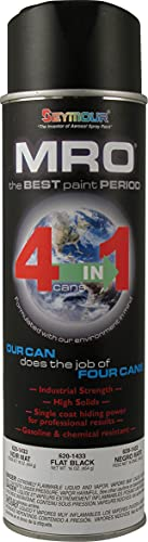SEYMOUR 620-1433 Industrial MRO High Solids Spray Paint, Flat Black
