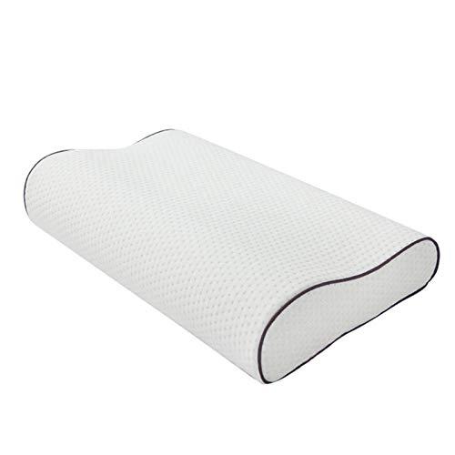 MOVKZACV Almohada de espuma viscoelástica, almohada cervical ergonómica con fundas de almohada lavables y transpirables para aliviar el dolor de cuello y dormir