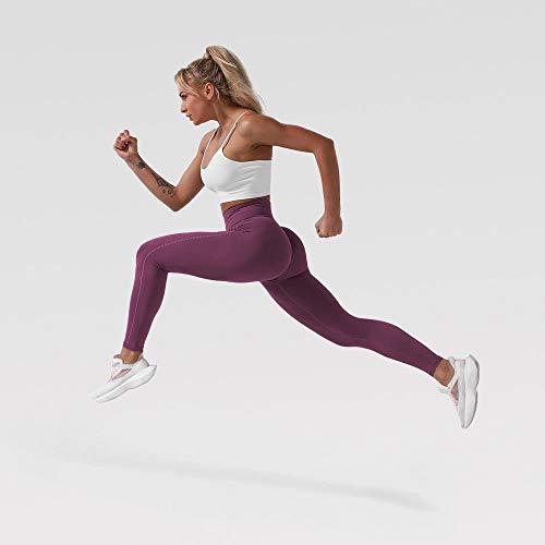 Pantalones de yoga Leggings sin costuras Pantalones de yoga de cintura alta de cintura alta Leggings de yoga ligero Super Stretchy Gym Tastics Energy Leggings Deporte Fitness Pantalón Ropa de yoga par