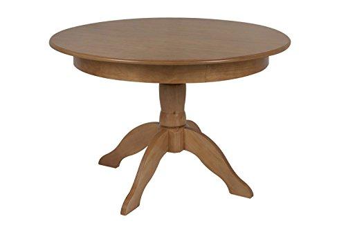Memomad Table Ronde Table Extensible jusqu'à 155 cm Tea - Bois Massif, Couleur Oak