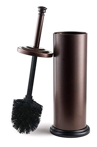 Estilo Stainless Steel Toilet Brush and Holder - Bronze