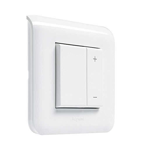 Legrand LEG78407 Mosaic Interrupteur Variateur Toutes Lampes, Ecovariateur Universel 2 Fils sans Neutre, Blanc