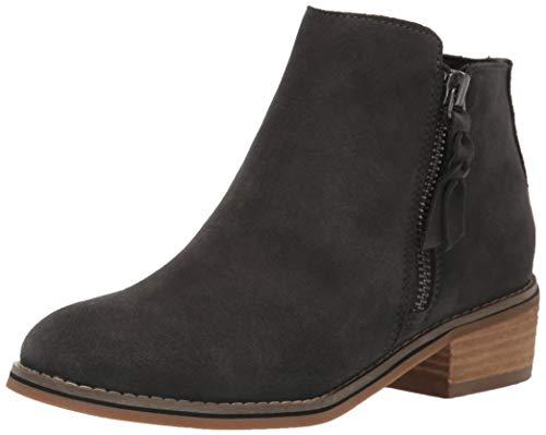 Blondo Women's Liam Waterproof Ankle Boot, Dark Grey Suede, 11 W US