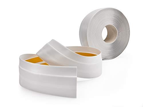 Plinthe adhésive pour revêtement de sol, PVC souple, gris cendré, 50x20, 5m