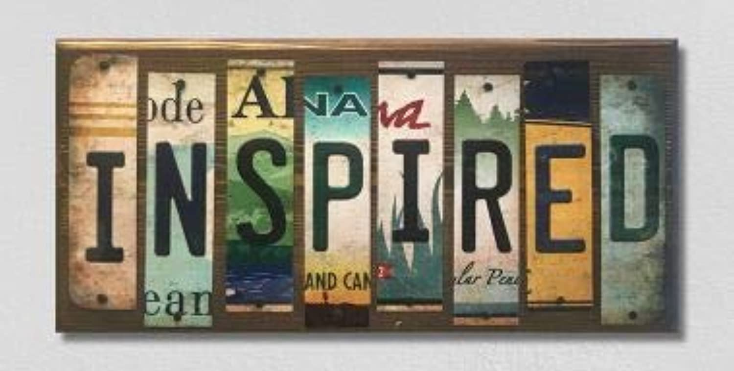 Inspired License Plate Strip Novelty Wood Sign (with Sticky Notes)