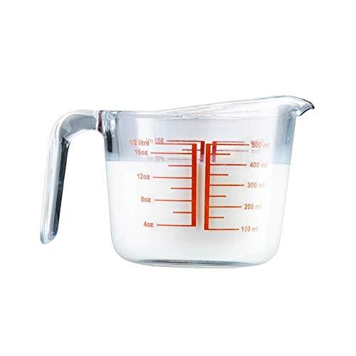 Vaso medidor Inicio de vidrio for hornear herramienta de medición de la Copa Conjunto de 3 piezas de Microondas Horno Caja de seguridad 250/500/1000 ml de alta calidad de la cocina taza de medición de