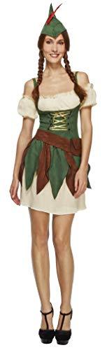 Fever, Dames Kruiger Outlaw kostuum, jurk, mouwen, hoed en riem, Maat: M, 32801