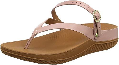 FitFlop Flip Leather Back-Strap Sandals, Sandalias con Punta Abierta para Mujer, Rosa (Dusky Pink 535), 41 EU