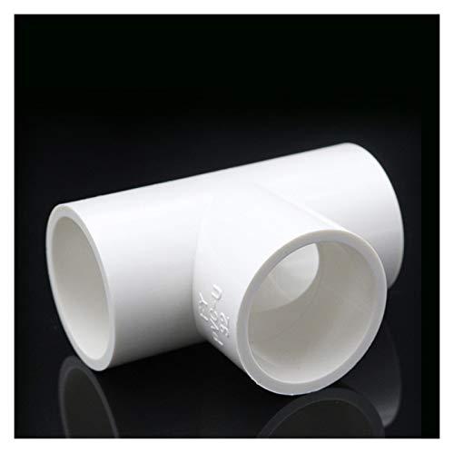 YJZZ Accesorios de tubería de PVC Blancos Codo Recto Conectores de Camiseta Iguales Conectores de plástico Piezas de Agua conjuntas PVC 3/4/5 Maneras de Estante de Bricolaje