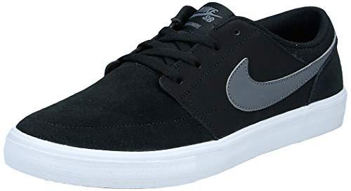 Nike Unisex-Erwachsene Sb Portmore Ii Solar Skateboardschuhe, Schwarz Black Dark Grey White 001, 43 EU