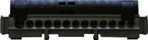 Legrand LEG04854 - Morsettiera di distribuzione fase IP2x, connessione da 1 x 6 da 25 mmq, 113 mm, colore: Nero
