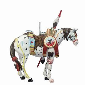 Trail of the Painted Ponies War Pony Christmas Ornament New Gift by Westland Giftware