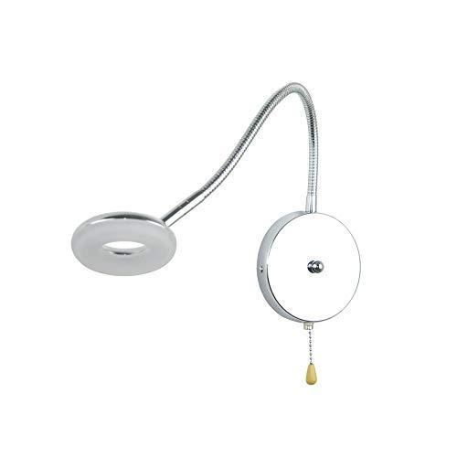 ZZYJYALG Manguera creativa de la luz de la pared de la manguera con el interruptor de alambre de plomo, lámpara de decoración de baño de dormitorio, lámparas de lectura de noche Luz de noche