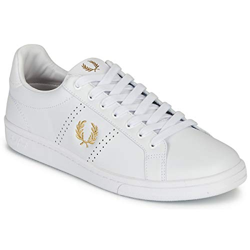 Fred Perry B721 Leather Sneakers Uomini Bianco - 40 - Sneakers Basse