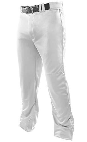 Joe's USA Open Bottom Relaxed Fit Baseball Pants - (White Adult 4X- Large)