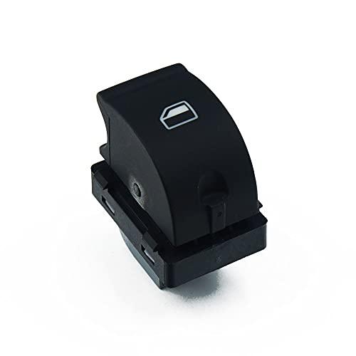 TXKMO Ventana Principal de energía eléctrica Interruptor de botón/for Audi A4 S4 B6 B7 2003- / for los Seat Exeo 8E0959851 8E0959855 (Color : Single Switch)