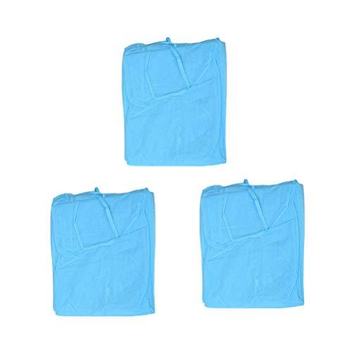 Artibetter Einwegkittel aus Vlies, für Labor, Schutzkleidung, undurchlässig, für Zahnarztbesuche, Hygieneanzug (blau), 3 Stück