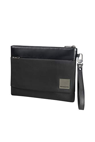 Samsonite Hip-Square - Tablet Clutch M 7.9' Bolso bandolera, 26 cm, 2 liters, Negro (Black)