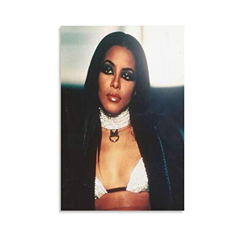 Qiuni Sänger-Poster Aaliyah Try Again Cover Poster Dekorative Malerei Leinwand Wandkunst Wohnzimmer Poster Schlafzimmer Gemälde 50 x 75 cm