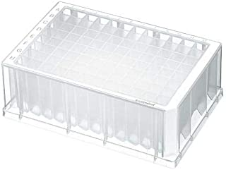 Eppendorf 951033103 Sterile Deepwell Plate with 96 Wells, 1000 microliter Volume, White Border (Pack of 80)