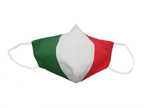 RF Distribution Copri Mascherina Fazzoletto, Berde Bianco Rosso, Taglia Grande Unisex-Adulto
