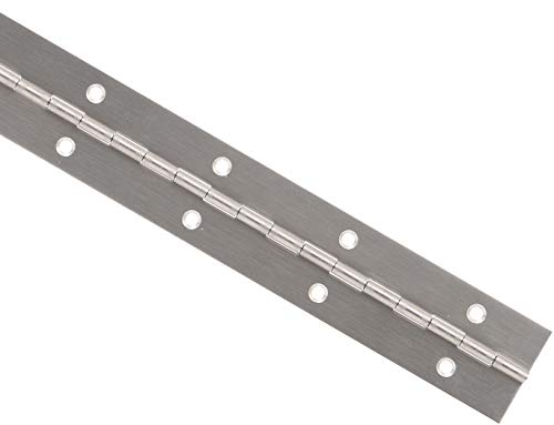 Hillman Hardware Essentials 853400 Continuous Pin 12' x 1-1/2' Stainless Steel
