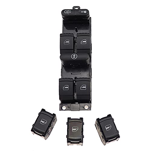 Panel de ventana Interruptor de control maestro apto para VW Golf MK4 Jetta Bora Passat B5 apto para Seat Leon Toledo Superb 2000 2001 2002 2003 2004 1J49598-Aand3xSingle_Control