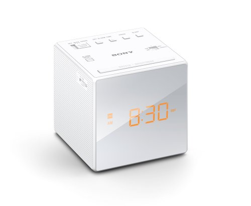 Price comparison product image Sony ICFC1WHITE ICFC1 Alarm Clock Radio,  White