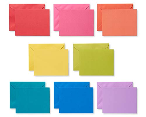 American Greetings Single Panel Blank Cards with Envelopes, Rainbow Colors (200-Count)