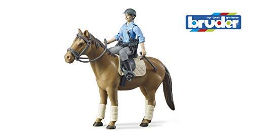 bruder 62507 Bworld Polizist mit Pferd