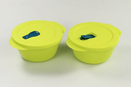 TUPPERWARE Mikrowelle CrystalWave 800 ml limette (2) Micro Wave Pop Plus Fix 26472