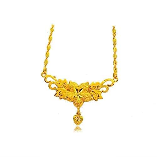 NC190 Collar Brillante de Moda, Colgantes de Collar de Flores Grandes para Mujeres, Collares chapados en Oro para Mujeres, Regalos de joyería de Moda para Damas