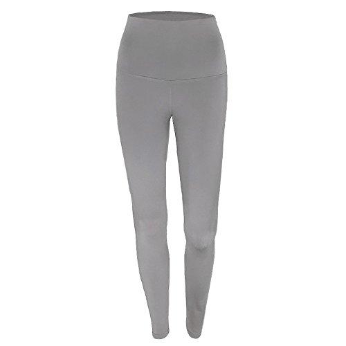 Justwide Leggings De Entrenamiento De Moda para Mujer Fitness Sports Gym Running Yoga Pantalones AtléTicos(Gris,XL)