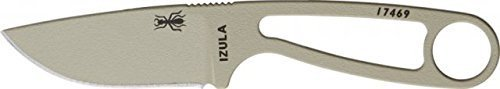 Esee Izula Desert Tan Fixed Blade Knife, 2.5in, Drop Point, Skeletonized Handle RCIDT by ESEE