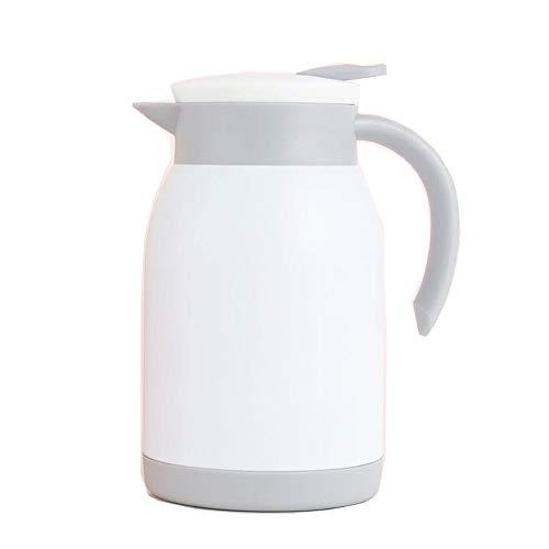 Pot isolant sous vide à double couche en acier inoxydable, cafetière à thé/pot isolant, convient au bureau du salon-White