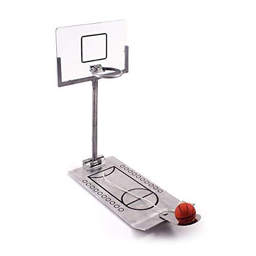 Mini Tisch Basketball aus Metall NBA Tischbasketball Fingerbasketball im Büro Basketball Geschicklichkeitsspiel Zusammenklappbarer Tischkorb