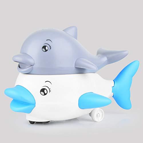 D/A Juguetes de baño para niños con luz de bebé para rociar agua ballena juego de juguetes de bañera (gris + base blanca)