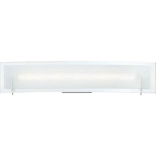 Quoizel PCSM8524C Stream Platinum Frosted Glass LED Vanity Wall Lighting, 1-Light, 18 Watt, Polished Chrome (5'H x 24'W)