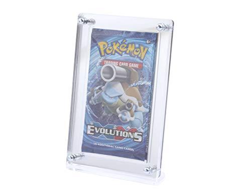 Pokemon Yugioh Exklusives Sammler Display mit verspiegelter Rückwand für die besonderen Booster. TCG Ninjango Fortnite Karten