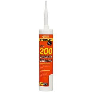 Everbuild 200WH 295ml Contractors LMA Silicone Sealant - White