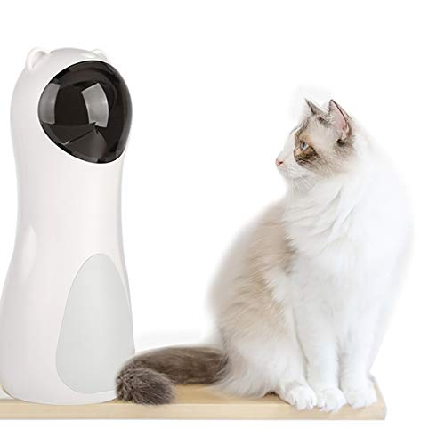 Cat Laser Toy Automatic,Interactive Toy for Kitten/Dogs - USB Charging / Battery Powered , Placing High,5 Random Pattern,Automatic On/Off and Silent, Fast/ Slow Light Flashing Mode