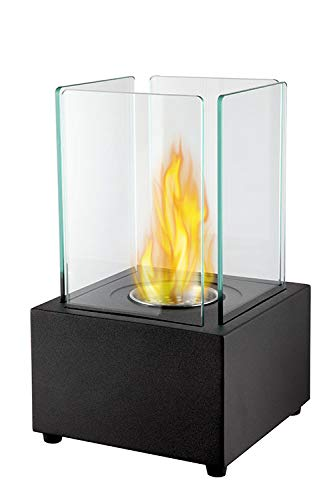 Ethanol Tischkamin Leon, mit Keramikschwamm und Auslaufschutz, super Flamme