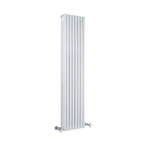 Hudson Reed Regent - Gliederheizkörper Vertikal 3 Säulen Nostalgie Weiß 1500mm x 380mm 1387W